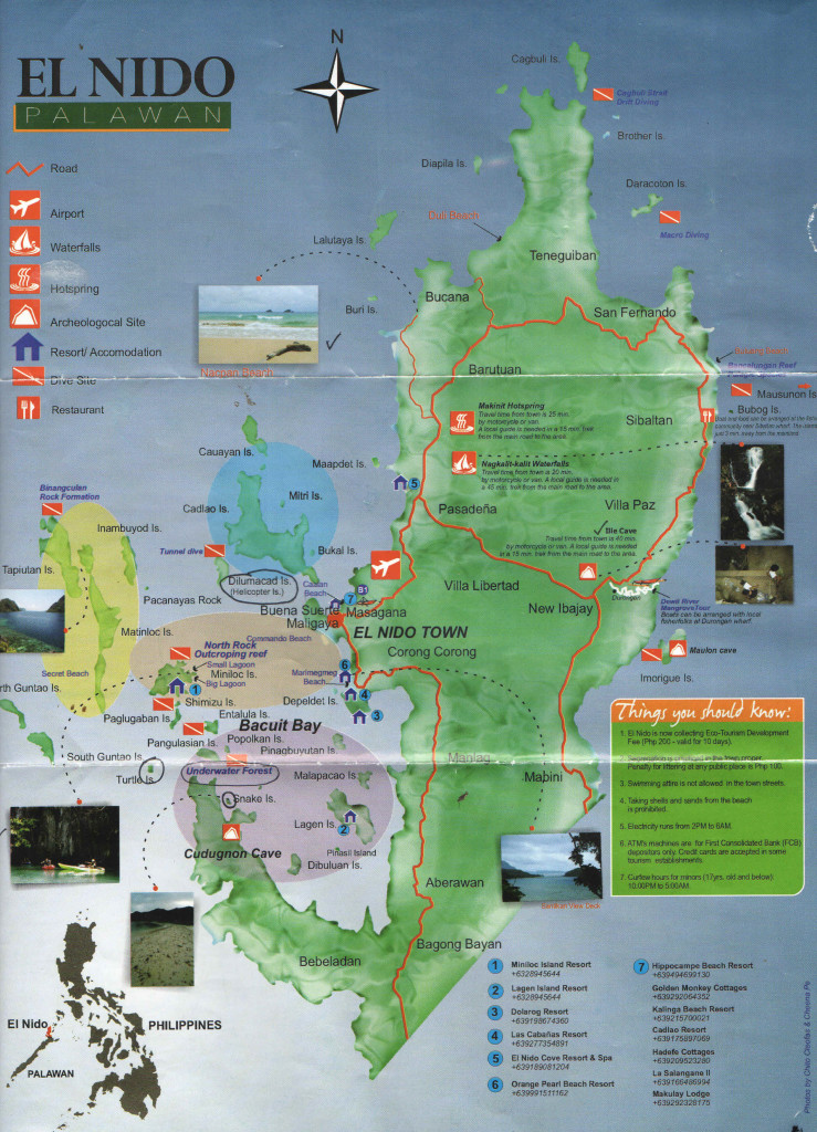 Mapa El Nida