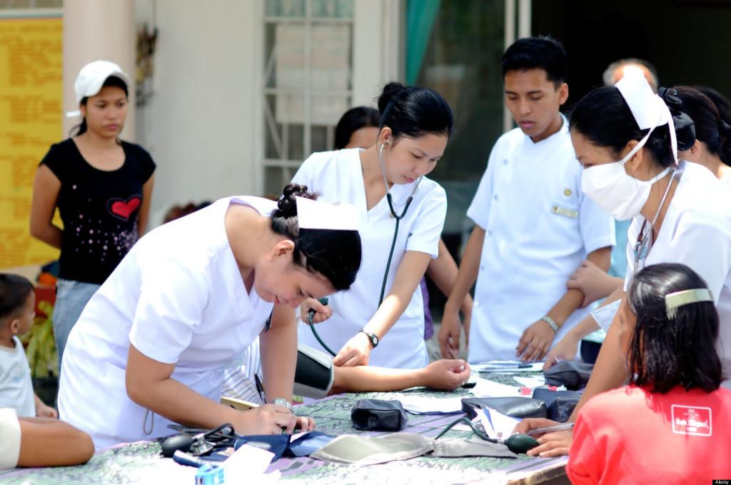 Filipínské sestřičky, zdroj: www.huffingtonpost.com