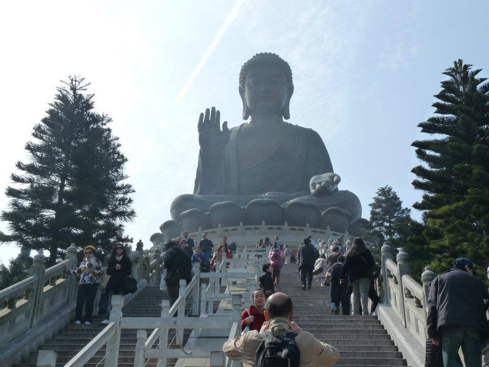 Největší sedící Buddha na světě, ostrov Lantau