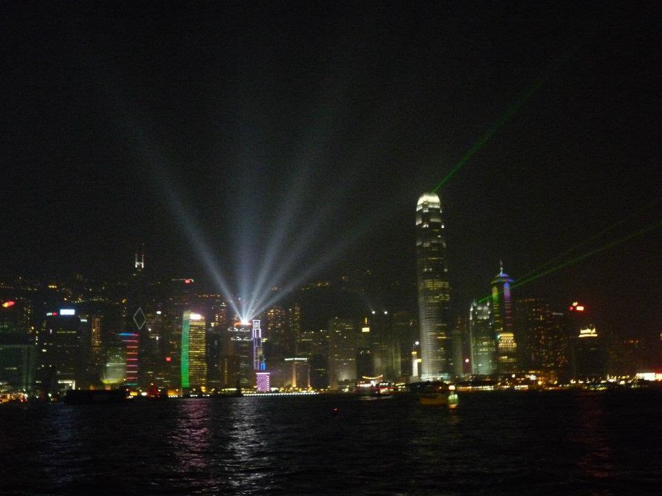 Tato lazer show v Hongkongu je každý večer.