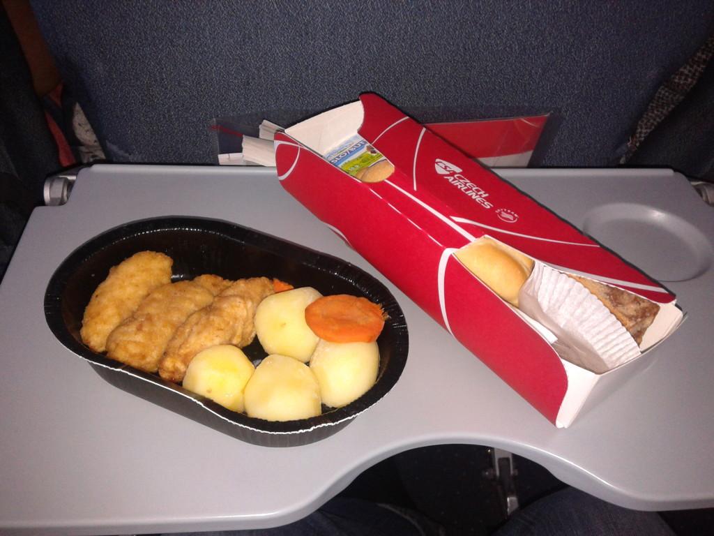 Jídlo během letu Praha - Moskva s ČSA