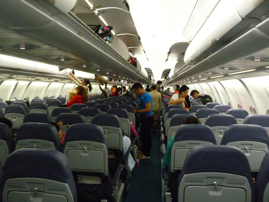 Vnitřek A330, let Dubaj - Manila