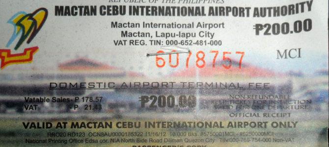 Letištní odletové poplatky na Filipínách
